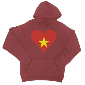 Vietnam Heart Flag College Hoodie Apparel Flagdesignproducts.com