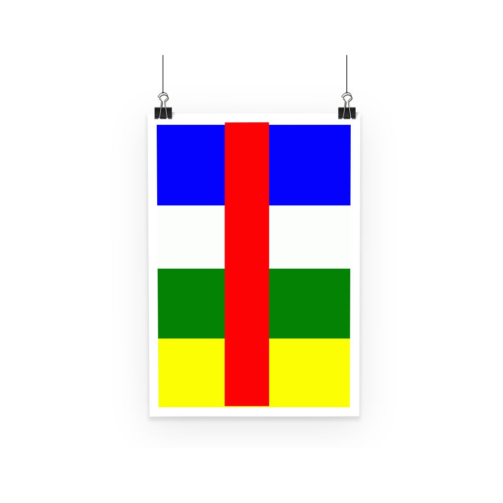 Flag Of Central African Poster Wall Decor Flagdesignproducts.com