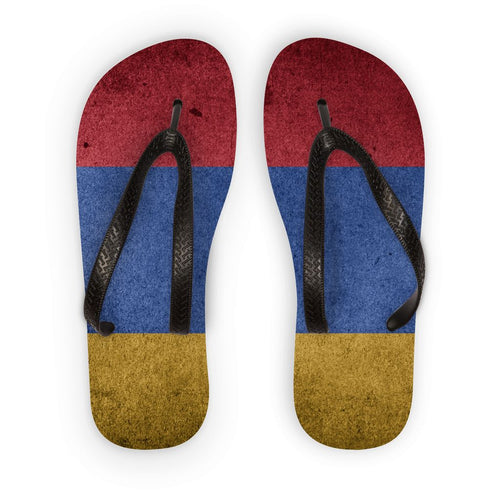Grunge Armenia Flag Flip Flops Accessories Flagdesignproducts.com