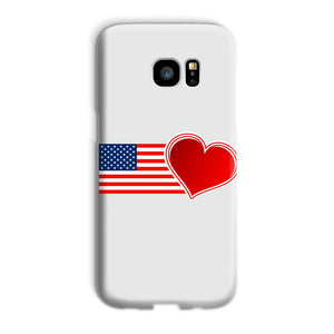 Usa Flag And Heart Phone Case & Tablet Cases Flagdesignproducts.com