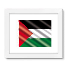 Waving Palestina Flag Framed Fine Art Print Wall Decor Flagdesignproducts.com