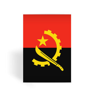 Angola Flag Greeting Card Prints Flagdesignproducts.com