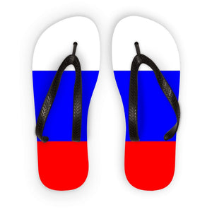 Basic Russian Flag Flip Flops Accessories Flagdesignproducts.com