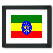 Flag Of Ethiopia Framed Fine Art Print Wall Decor Flagdesignproducts.com