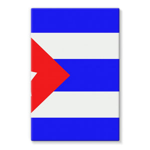 Flag Of Cuba Stretched Eco-Canvas Wall Decor Flagdesignproducts.com