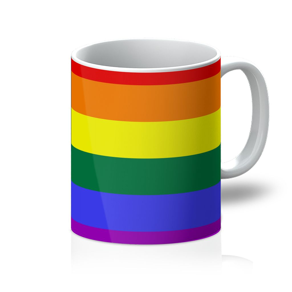 Colorful Usa Rainbow Flag Mug Homeware Flagdesignproducts.com