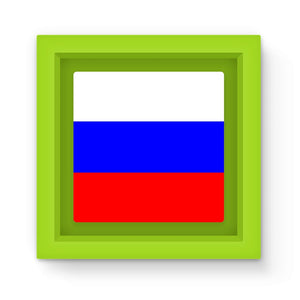 Basic Russian Flag Magnet Frame Homeware Flagdesignproducts.com