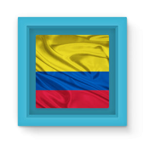 Waving Colombia Fabric Flag Magnet Frame Homeware Flagdesignproducts.com