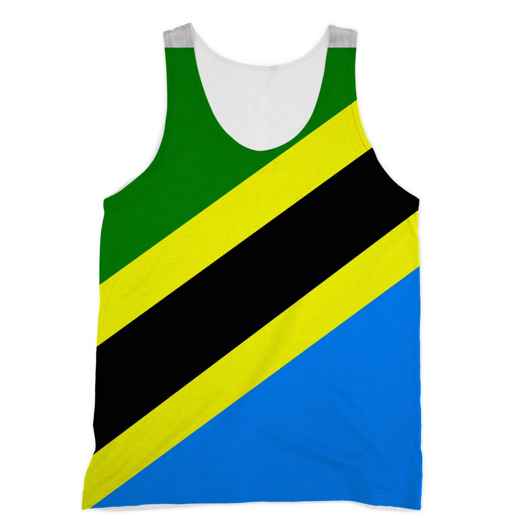 Flag Of Tanzania Sublimation Vest Apparel Flagdesignproducts.com