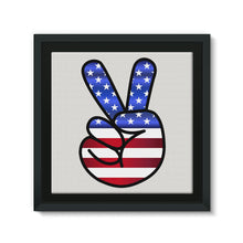America Fingers Flag Framed Canvas Wall Decor Flagdesignproducts.com