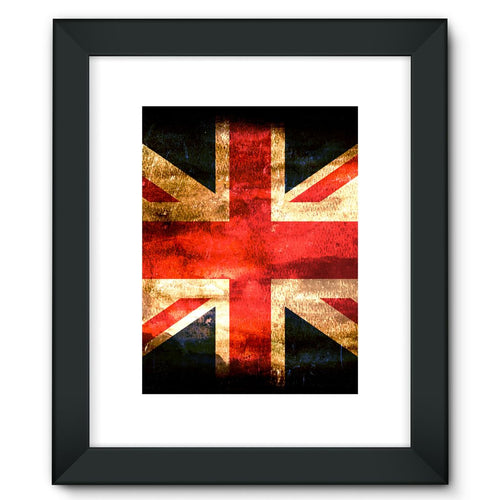 Dark Uk Flag Framed Fine Art Print Wall Decor Flagdesignproducts.com