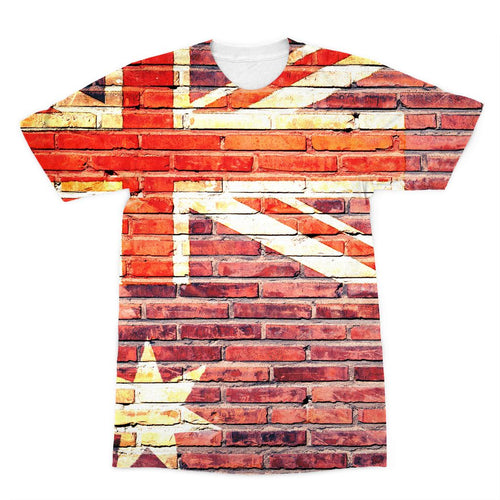 Australia Stone Brick Wall Sublimation T-Shirt Apparel Flagdesignproducts.com