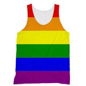 Colorful Rainbow Lgbt Flag Sublimation Vest Apparel Flagdesignproducts.com