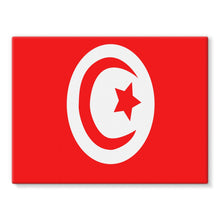 Flag Of Tunisia Stretched Eco-Canvas Wall Decor Flagdesignproducts.com