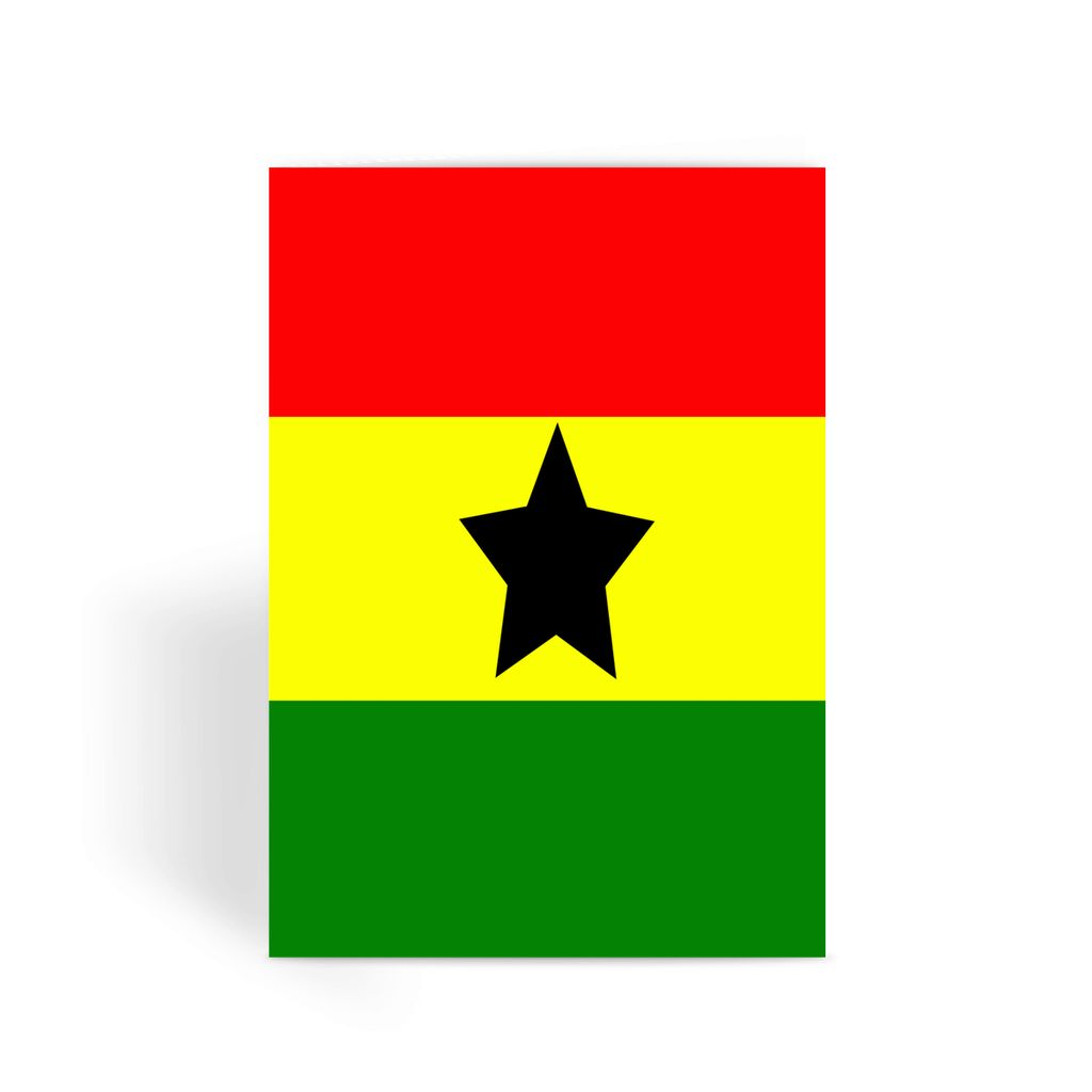 Flag Of Ghana Greeting Card Prints Flagdesignproducts.com