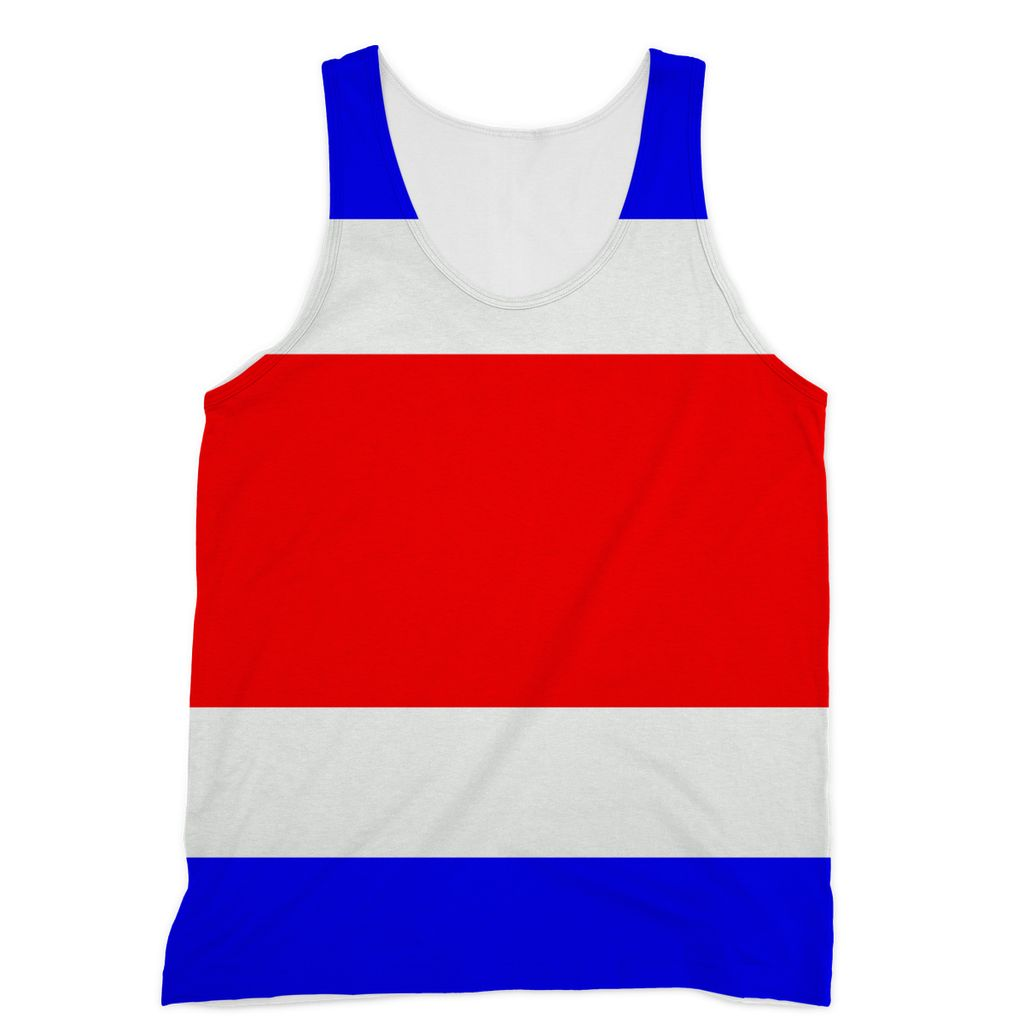 Flag Of Costa Rica Sublimation Vest Apparel Flagdesignproducts.com
