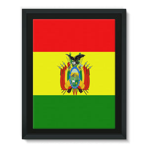 Flag Of Bolivia Framed Canvas Wall Decor Flagdesignproducts.com
