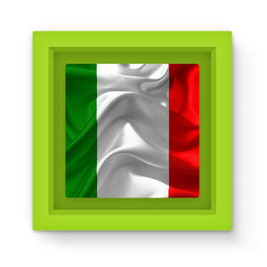 Waving Italy Fabric Flag Magnet Frame Homeware Flagdesignproducts.com