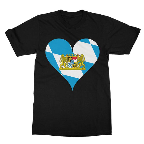 Bavaria Heart Flag Softstyle Ringspun T-Shirt Apparel Flagdesignproducts.com