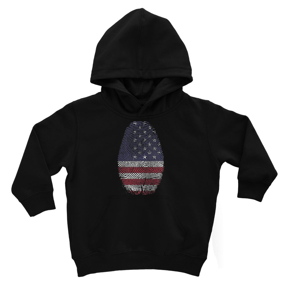 Usa Flag Finger Print Kids Hoodie Apparel Flagdesignproducts.com