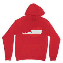 Austria Continent Flag Heavy Blend Hooded Sweatshirt Apparel Flagdesignproducts.com