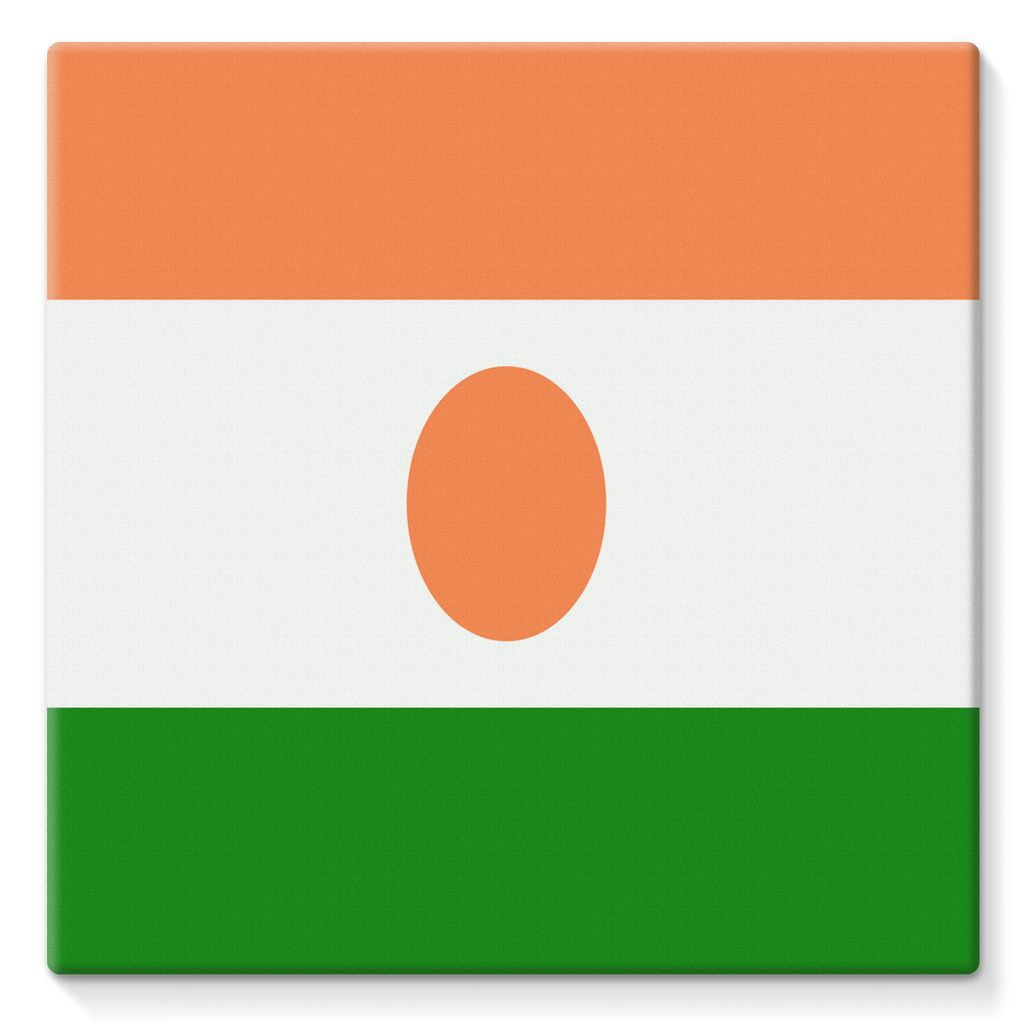 Flag Of Niger Stretched Eco-Canvas Wall Decor Flagdesignproducts.com