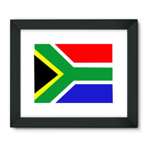 Flag Of South Africa Framed Fine Art Print Wall Decor Flagdesignproducts.com