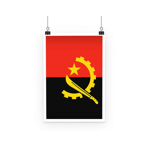 Angola Flag Poster Wall Decor Flagdesignproducts.com
