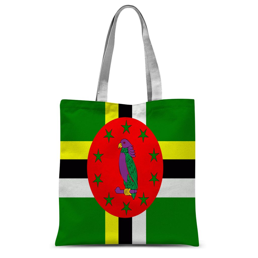 Flag Of Dominica Sublimation Tote Bag Accessories Flagdesignproducts.com