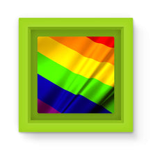 Waving Rainbow Lgbt Flag Magnet Frame Homeware Flagdesignproducts.com