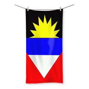 Flag Of Antigua And Barbuda Beach Towel Homeware Flagdesignproducts.com