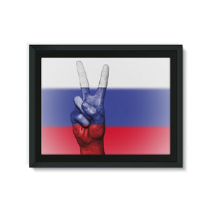 Russia Fingers Flag Framed Eco-Canvas Wall Decor Flagdesignproducts.com