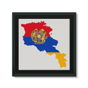 Armenia Continent Flag Framed Eco-Canvas Wall Decor Flagdesignproducts.com