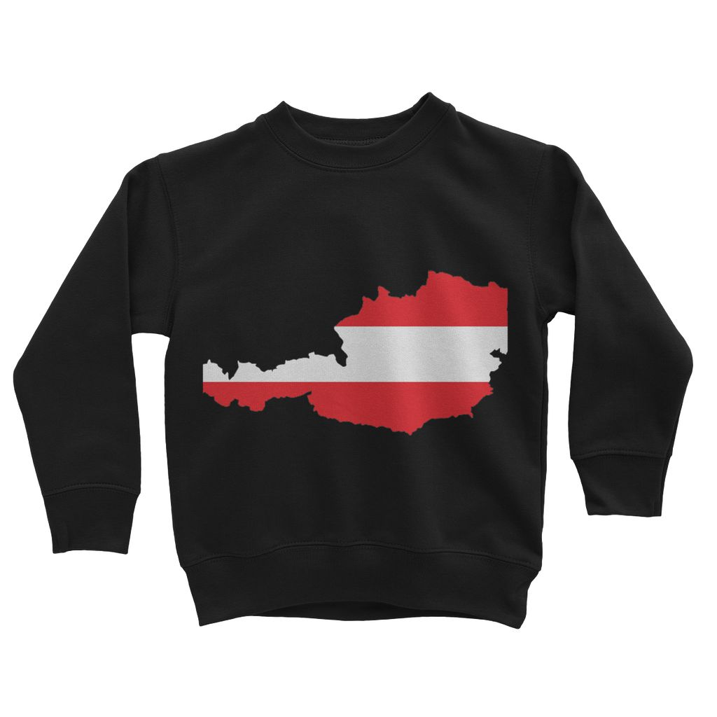 Austria Continent Flag Kids Sweatshirt Apparel Flagdesignproducts.com
