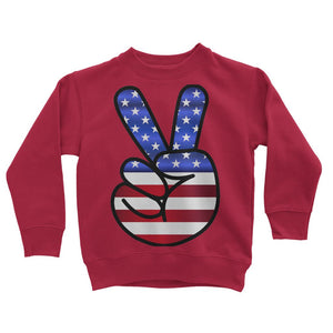 America Fingers Flag Kids Sweatshirt Apparel Flagdesignproducts.com