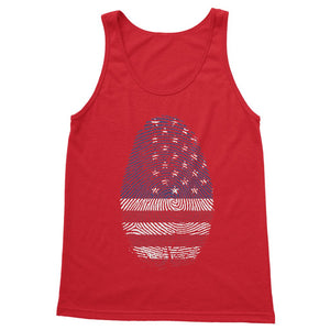 Usa Flag Finger Print Softstyle Tank Top Apparel Flagdesignproducts.com