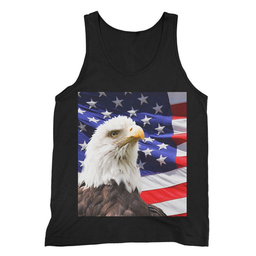 American Eagle And Usa Flag Fine Jersey Tank Top Apparel Flagdesignproducts.com