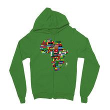 Africa Countries Flag Kids Zip Hoodie Apparel Flagdesignproducts.com
