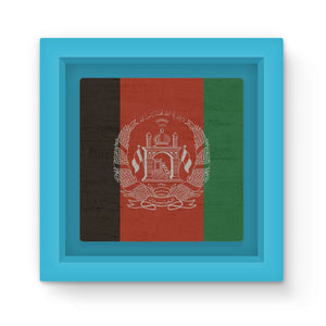 Afganistan Stone Wall Flag Magnet Frame Homeware Flagdesignproducts.com