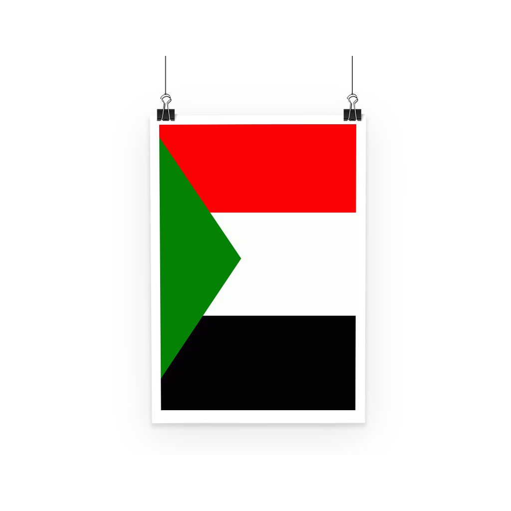 Flag Of Sudan Poster Wall Decor Flagdesignproducts.com