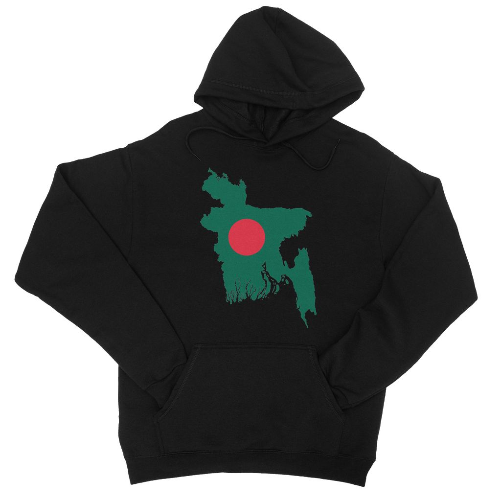 Bangladesh Continent Flag College Hoodie Apparel Flagdesignproducts.com