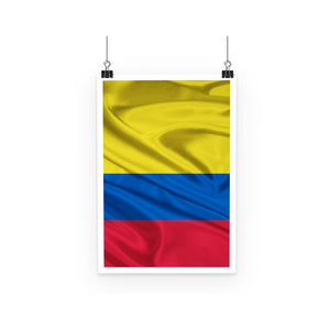 Waving Colombia Fabric Flag Poster Wall Decor Flagdesignproducts.com