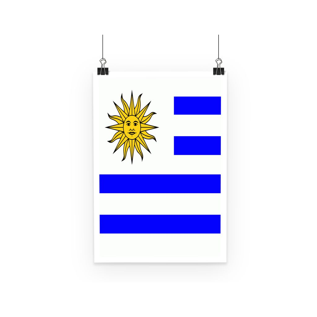 Flag Of Uruguay Poster Wall Decor Flagdesignproducts.com
