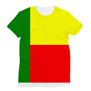 Flag Of Benin Sublimation T-Shirt Apparel Flagdesignproducts.com