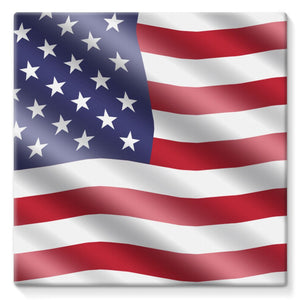 Waving United States Flag Stretched Canvas Wall Decor Flagdesignproducts.com