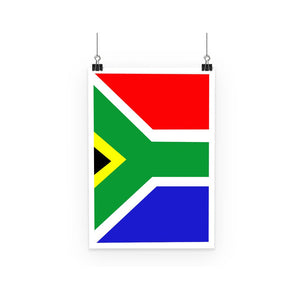 Flag Of South Africa Poster Wall Decor Flagdesignproducts.com