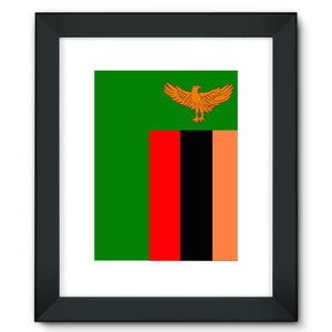 Flag Of Zambia Framed Fine Art Print Wall Decor Flagdesignproducts.com