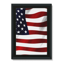 Waving Usa America Flag Framed Canvas Wall Decor Flagdesignproducts.com
