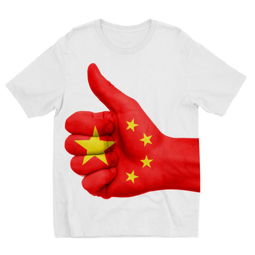 China Hand Flag Kids Sublimation T-Shirt Apparel Flagdesignproducts.com