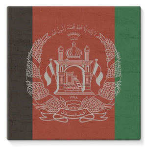 Afganistan Stone Wall Flag Stretched Eco-Canvas Wall Decor Flagdesignproducts.com